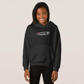 O Hoodie escuro da menina do #SafeWithMe