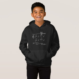 O Hoodie escuro do menino do presente
