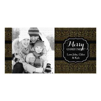 O Hopi do Natal listra o ouro elegante Cartão
