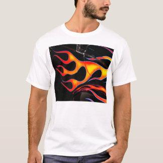 O hot rod arde o t-shirt camiseta