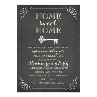 O Housewarming chave do quadro do vintage convida Convite 12.7 X 17.78cm