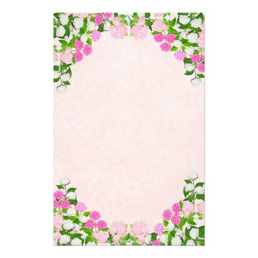 O Hydrangea cor-de-rosa elegante floresce artigos  Papéis Personalizados