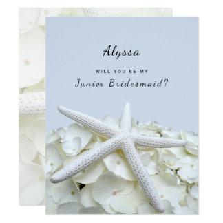 O Hydrangea da estrela do mar seja meus cartões