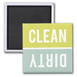 O ímã da máquina de lavar louça LIMPA | SUJO - Ímã Quadrado