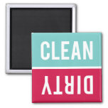 O ímã da máquina de lavar louça LIMPA | SUJO - Imã De Refrigerador