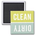 O ímã da máquina de lavar louça LIMPA | SUJO - Imas De Geladeira