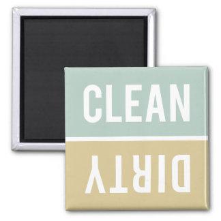 O ímã da máquina de lavar louça LIMPA | SUJO - Tan Ímã Quadrado