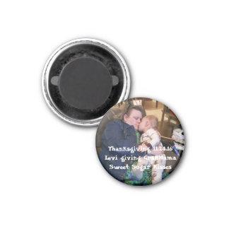 O ímã personaliza adiciona sua foto especial ímã redondo 2.54cm