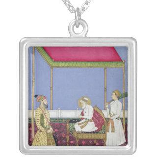 O imperador Aurangzeb na idade avançada Pingentes