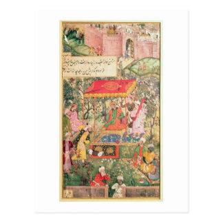 O imperador Babur do líder recebe os enviado Uzbeg Cartão Postal