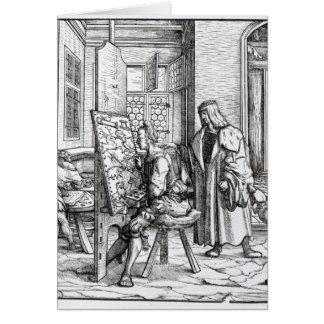 O imperador no estúdio do artista cartão comemorativo