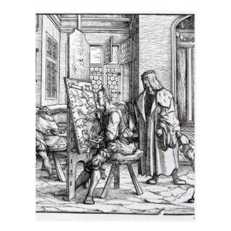 O imperador no estúdio do artista cartão postal