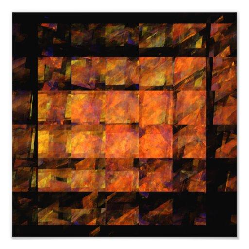 O impressão da foto da arte abstracta da parede