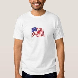 """O impressão e """"nós muito patrióticos da bandeira camiseta"""