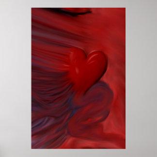 O impressão Untamed do coração