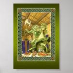 O impressão verde do cavaleiro