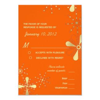 O indiano da laranja & do ouro inspirou opções da convite 8.89 x 12.7cm