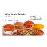 O indiano tempera o cartão de visita do fornecedor