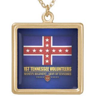 ø Infantaria de Tennessee (F10) Colar Banhado A Ouro
