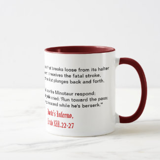 O inferno de Dante, caneca do Canto XII