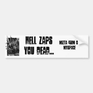 O inferno Zaps o inoperante por Mizta desagradável Adesivo Para Carro