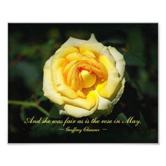 O inglês romântico do amarelo das citações aumento fotografias