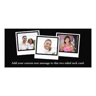 O instantâneo 3-Photo personalizado molda a cor 10.16 X 22.86cm Panfleto
