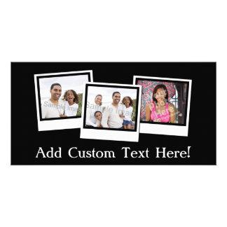 O instantâneo 3-Photo personalizado molda a cor Cartão Com Foto