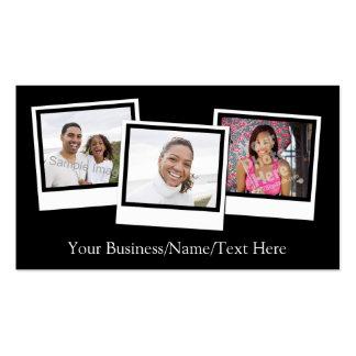 O instantâneo 3-Photo personalizado molda a cor Cartão De Visita