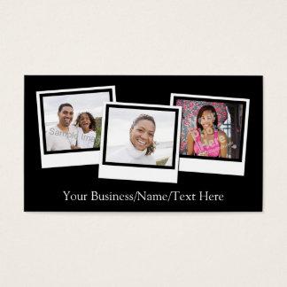 O instantâneo 3-Photo personalizado molda a cor Cartão De Visitas