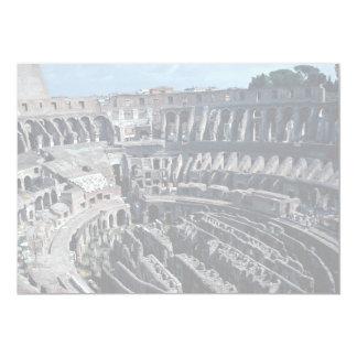 O interior cavernoso do Coloss romano antigo Convite 12.7 X 17.78cm
