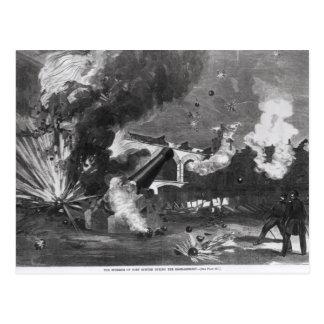 O interior do forte Sumter durante Cartao Postal