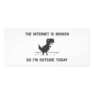 O Internet é quebrado assim que eu estou fora hoje 10.16 X 22.86cm Panfleto