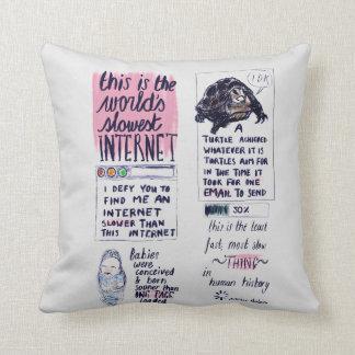 O Internet o mais lento do mundo Almofada