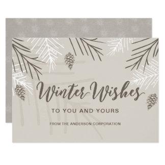 O inverno deseja cartões de natal do negócio
