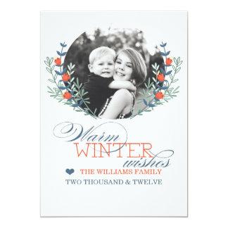 O inverno deseja o cartão (o melhor prêmio de convite 12.7 x 17.78cm