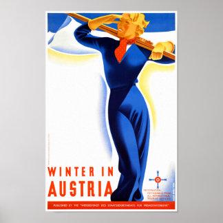 O inverno em Áustria restaurou o poster das