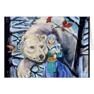 O inverno enrola o cartão polar de Bear~Greeting