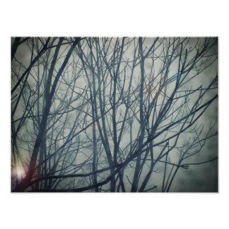 O inverno está vindo impressão de foto