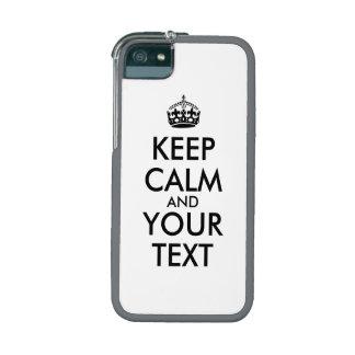 O iphone da corrupção 5 casos mantem a calma e o capas iPhone 5/5S