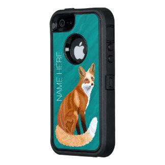 O iphoneSE retro vermelho do estilo do Fox de Z