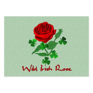 O irlandês selvagem aumentou cartão de visita