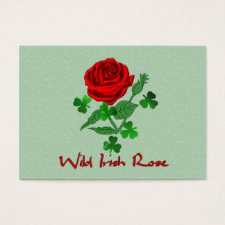 O irlandês selvagem aumentou cartão de visitas