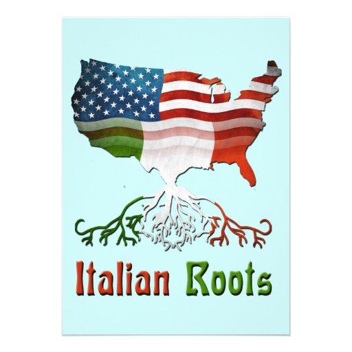 O italiano americano enraíza o convite