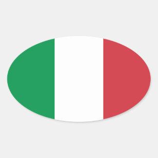 O italiano colore a etiqueta adesivo oval