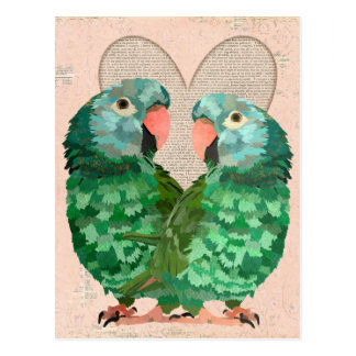 O jade repete mecanicamente o cartão do coração cartao postal