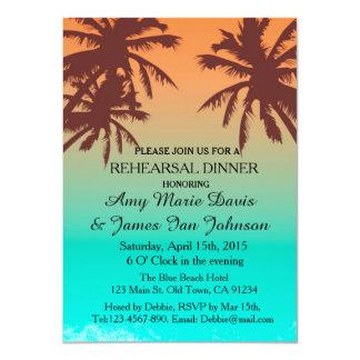 O jantar de ensaio azul da praia do oceano convida convite