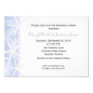 O jantar de ensaio azul pálido do casamento da convite 11.30 x 15.87cm