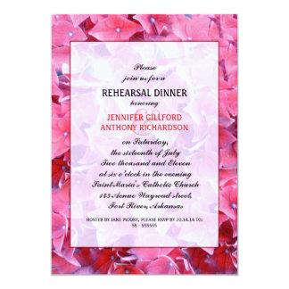 o jantar de ensaio clássico do hydrangea convite 12.7 x 17.78cm