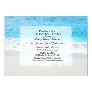 O jantar de ensaio do casamento de praia convida convite personalizado